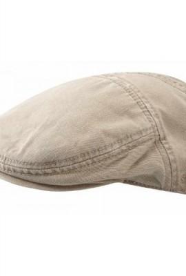 PARADISE-BEIGE-Flatcap-Schirmmtze-aus-Baumwolle-von-Stetson-M-56-57-0