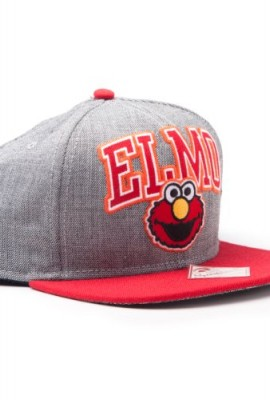 Sesamstrae-Elmo-einstellbarer-Cap-Snap-Back-Baseball-Kappe-Mtze-Hut-Original-Lizensiert-0