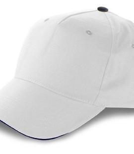 Baseball-Cap-aus-Baumwolle-inklusive-Klettverschluss-5-Panels-Wei-Baumwolle-Twill-23x23-Farbe-Wei-0