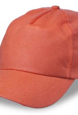 Baseballcap-aus-Non-Woven-Klettverschluss-5-Panels-Orange-Non-woven-75gm2-Farbe-Orange-0