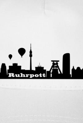 Kappe-Ruhrpott-Skyline-Baseball-Cap-OneSize-wei-schwarz-Myrtle-Beach-5-Panel-Cap-0-1