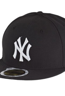 New-Era-Kids-59Fifty-Cap-NY-YANKEES-Black-White-Size6-58-0