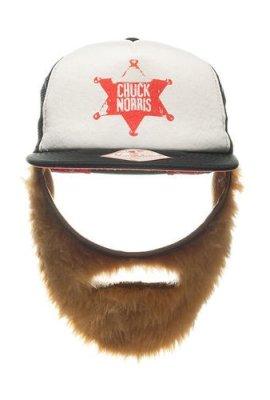 Chuck-Norris-Foam-Trucker-Cap-mit-Bart-schwarz-wei-100-Polyester-bestickt-Gre-verstellbar-0