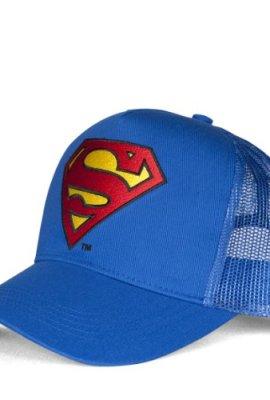 Trucker-Cap-Superman-Logo-DC-Comics-bestickt-Original-Kappe-von-Logoshirt-blau-Lizenziertes-Originaldesign-0