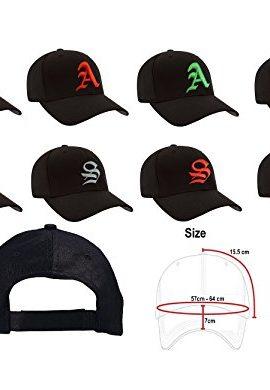 100-Cotton-Unisex-Damen-Herren-Baseball-Cap-Caps-Gothic-Letter-S-Hte-Mtzen-Snap-Back-Hat-Hats-0