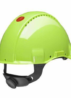 3M-Peltor-Schutzhelm-G3000-G30NUV-mit-3M-Uvicator-Sensor-ABS-mit-Schweiband-und-Ratschensystem-belftet-neongrn-0