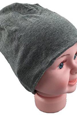 Baby-Kinder-Jersey-Slouch-Beanie-Long-Mtze-Unisex-Unifarbe-Baumwolle-Trend-0