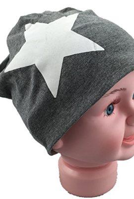 Baby-Kinder-Jersey-Slouch-Beanie-Long-Mtze-mit-Stern-Unisex-Baumwolle-Trend-0