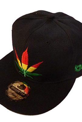 Basecap-Hip-Hop-Weed-Black-58-0