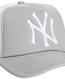 New-Era-Herren-Baseball-Cap-MLB-TRUCKER-NY-YANKEES-GREY-0