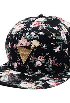Zeagoo-Blumen-Snapback-Hut-Hip-Hop-Flat-Schildmtze-Baseball-Kappe-grenverstellbar-0