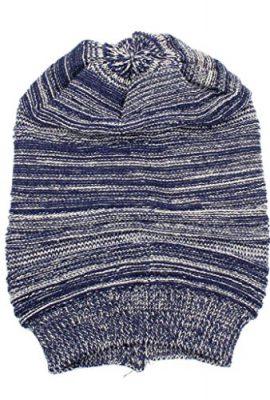 Longra-Unisex-stricken-ausgebeulten-Mtze-Barett-Winter-warm-berdimensionalen-Kappe-Strickmtzen-0-2