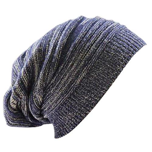 Longra-Unisex-stricken-ausgebeulten-Mtze-Barett-Winter-warm-berdimensionalen-Kappe-Strickmtzen-0